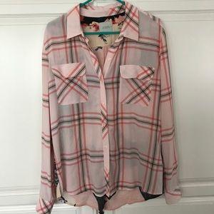Guess Plaid Button Down Shirt